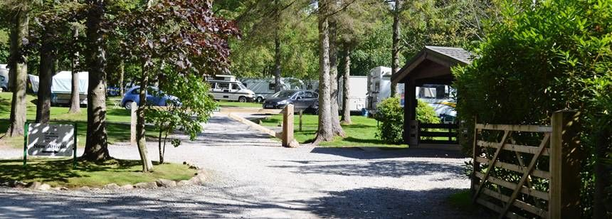 The Entrance and Facilities at the Ravenglass Campsite, Cumbria
