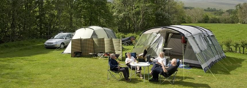 Couples Relaxing and Enjoying Each Others Company at the Troutbeck Camp Site, Cumbria