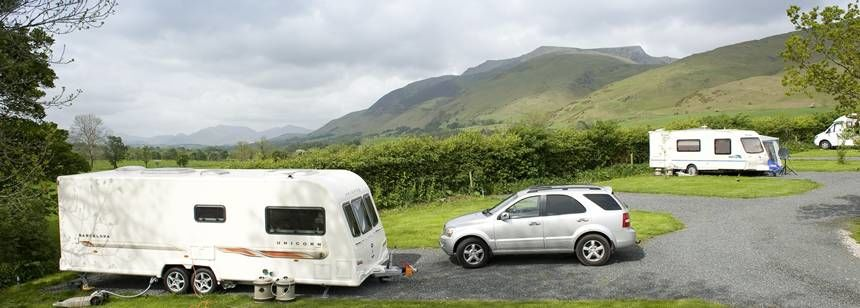 A Secluded Pitch With Stunning Views of the Cumbria Countryside at the Troutbeck Camp Site, Cumbria