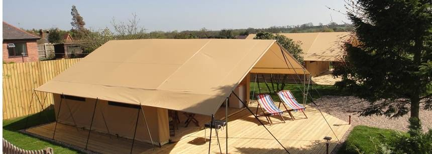 Camp in Luxury With one of the Safari Tents Offered by the Teversal Camp Site, Nottinghamshire