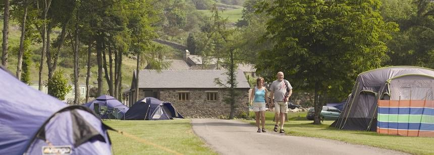 Views of Grass Pitches and the Scenic Country Side Around Eskdale Camp Site, Cumbria
