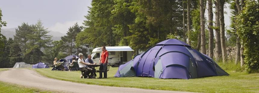 Grass Pitches For Your Mobile Home, Caravan and Tent at Eskdale Camp Site, Cumbria