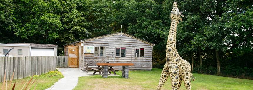 Reception area on Oswestry Campsite, Shropshire