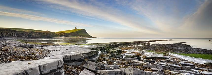 Kimmeridge Bay- Corfe Castle campsite