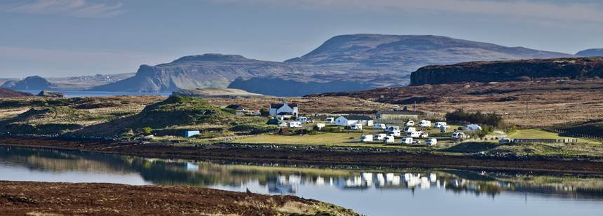 Rugged Views of the Idyllic Location of the Skye Campsite on  the Isle of Skye