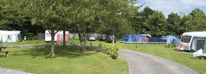 Scenic Views From the Grass Pitches of Teign Valley Camp Site, Devon