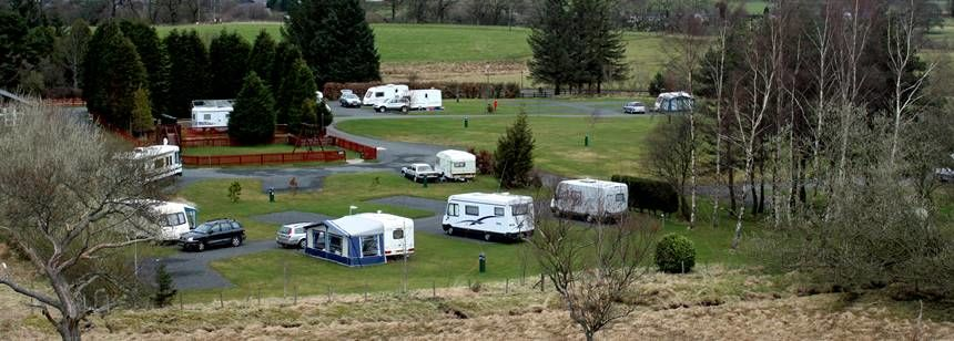 Views of the Secluded Bellingham Camp Site, Northumberland National Park