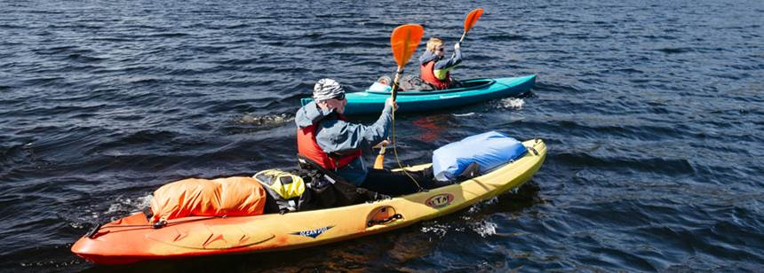 Kayaking near Loch Ness Shores Club Site