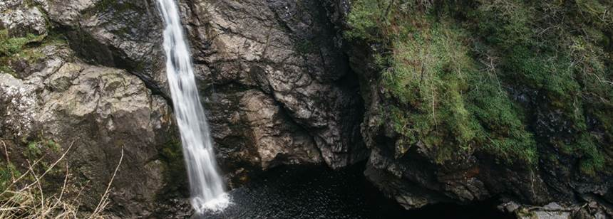 Waterfall near Loch Ness Club Site