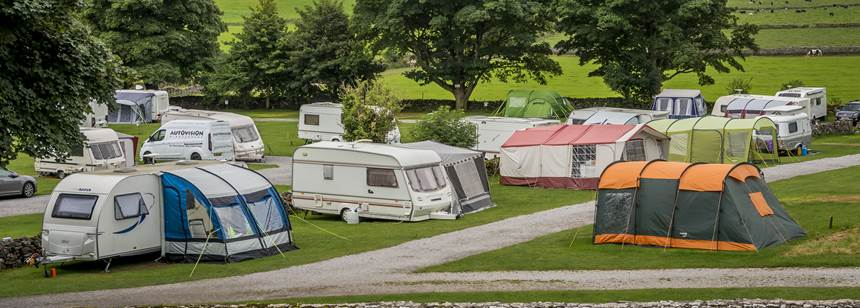 Grass Pitches For Your Mobile Home, Caravan and Tent at Cheddar, Mendip Heights Camp Site, Somerset
