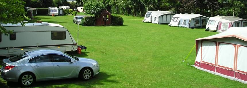 Camping area at Pembroke Caravan Park