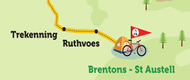 Leg 3: Brentons, St Austell to Bude on the National Cycle Network