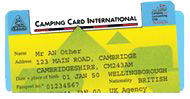 CCI cards (Camping Card International) for overseas visitors
