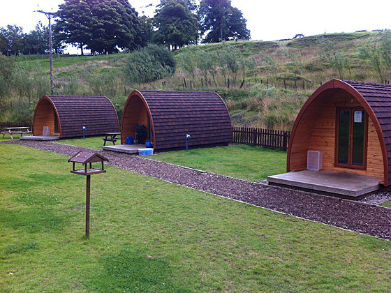 Camping Pods at Hayfield