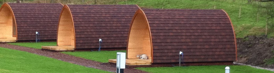Camping Pods at Hayfield Club Site