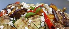 Barbecued Summer Vegetables with Crumbly Cheese
