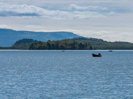 Fishing at Luss
