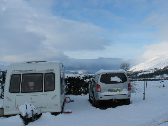 Caravanning in adverse weather