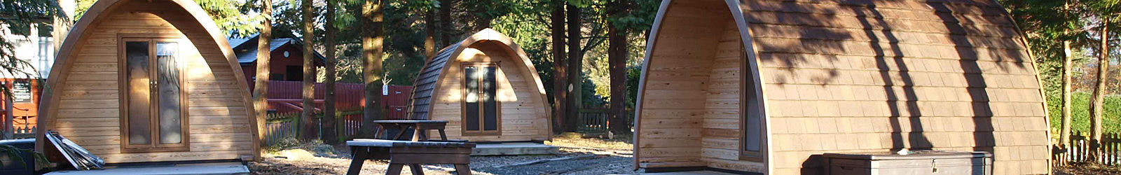 Camping Pods at Bellingham Club Site