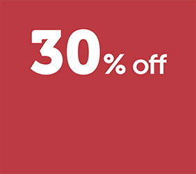 30% off grass pitches*