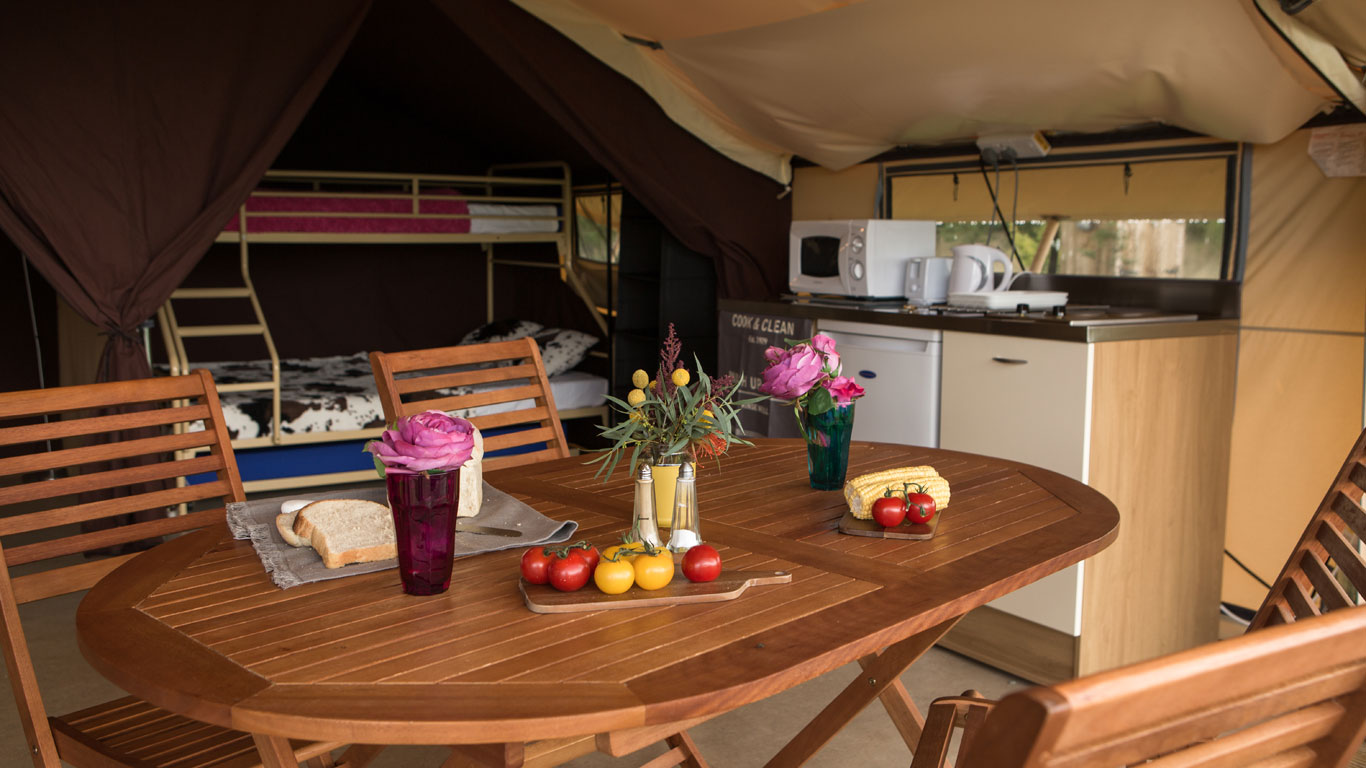 Overview of our safari tent accommodation & Safari Tent Glamping Holidays - Ready Camp